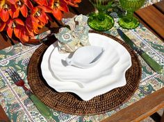 almoço á beira da piscina, como colocar a mesa, mesa posta, we share ideas, green tablescape, decoration, decoração verde