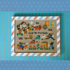 Super Buzzy   Category: Embroidery & Cross Stitch   Product: Gera Cross Stitch - Dear Mr. Postman