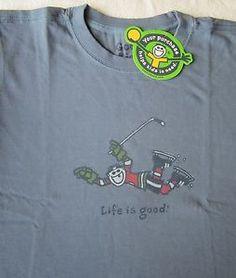 Life Is Good Hockey Jake Score NHL Boys Blue LS Long Sleeve T Shirt Tee New | eBay