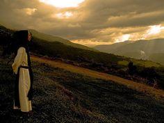 Monasterio Trapense.Vista hacia el valle del Mocotíes al atardecer.