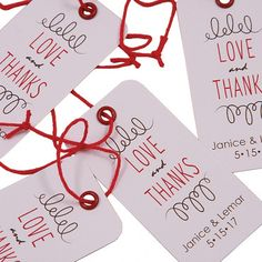 This is such a simple tag shape but it can be used for any style of wedding. It is perfect for wine glass or wine bottle tags, gift tags for bridesmaids and groomsmen and party favors.