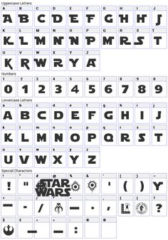 10 different Star Wars fonts, free  There is a zip file at the end