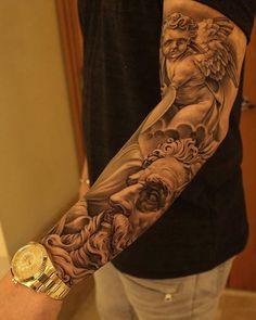 Forearm Tattoos - View the recent tattoo designs Tattoo Dotwork, Forarm Tattoos, God Tattoos, Tatuajes Tattoos, Badass Tattoos, Body Art Tattoos, Sleeve Tattoos, Awesome Tattoos, Tattos