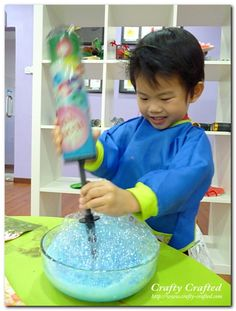 Bubble painting without a straw...