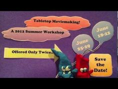 Tabletop Moviemaking + Stop-Motion Animation Workshop Session July 22 - 26 Session July 29 - August 2 (Private, In-Home Sessions Available: June 17 - Project Based Learning, Writing Workshop, Writing Process, Stop Motion, Save The Date, Teacher, Student, Unique, Projects