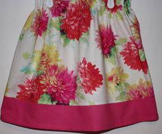 Pink Flower Skirt  Size 2 to 8 by bubblenbee on Etsy