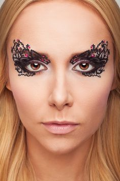 """Face Lace"" Model: Sabina Kontor  Make up: Natalia Listkowska Key Make up: Klaudia Utnicka Photo: Mirosław Greluk"