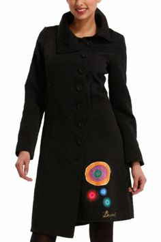 d45087260a806 Desigual Sara Overcoat --- Collar and hem altered and applique adhered.  Coats For