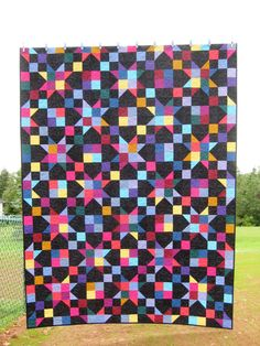 Amish Quilt, Patchwork Quilt, Primary Quilt, Twin Quilt, Bold Quilt, Bright Quilt, Prince Edward Island, Star Quilt, Twin Quilt