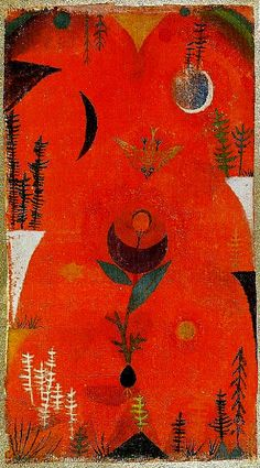 Flower Myth, Germany, 1918, by Paul Klee.