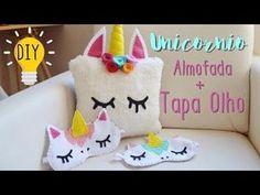 DIY Unicórnio Almofada e Mascara de Dormir em feltro • Por Estilo Jacky de Ser - YouTube