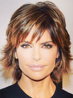 Hair Color Trends  2017/ 2018   Highlights :  Lisa Rinna I love her hair shorter or longer and she has thick dark hair with a