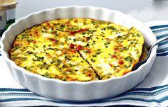 Tortilla de vegetales y queso fresco al horno | Sazón Boricua Tortillas, Quiche, Breakfast, Recipes, Food, Baked Omelette, Appetizers, Cooking Recipes, Meals