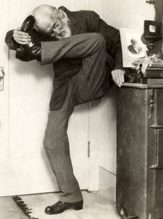 sigmund freud trying to put his leg behind his neck...