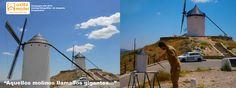 Maqueta molino de viento manchego S.XVI Campo de Criptana Consuegra Mota del Cuervo  Maquetas en Castilla la mancha model maker Granada Grupo Axfito