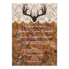 Free printable mossy oak style wedding invitation Camo Wedding