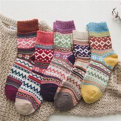 Comfy Socks, Warm Socks, Women's Socks, Hygge, Cheap Socks, Hiking Socks, Winter Socks, Short Socks, Colorful Socks