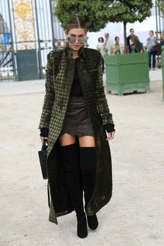Hailey Baldwin in a killer outfit! One of the few times I've actually liked thigh-high boots!