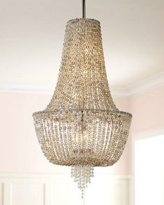 43 best crystal chandeliers images on pinterest crystal vixen collection 5 light 34 ornate chandelier with jewelry chain and crystal beads 141 aloadofball Gallery