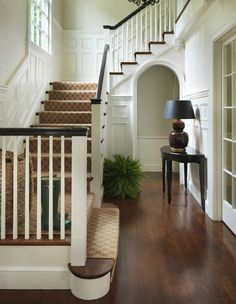 Great styling of how your banisters will look when painted! With the black top rail as I suggested.