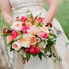 """""""Elizabeth's stunning bouquet. Image by @jenfariello. Taken at @pippinhillfarm with @eastonevents."""""""
