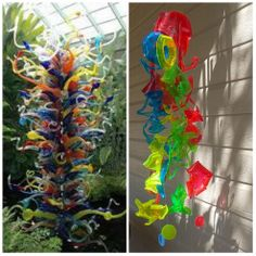CHIHULY Inspired Sun Catcher Made From Recycled Plastic Drinking Cups