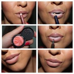 1)lipliner 2)white eyeliner pencil 3)lipgloss #perfectlips