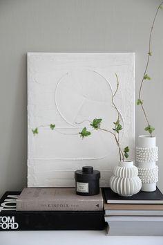 Hem - Trendenser Textured Canvas Art, Diy Canvas Art, Art Diy, Diy Wall Art, Diy Home Decor, Room Decor, Wall Decor, Diy Y Manualidades, Plaster Art