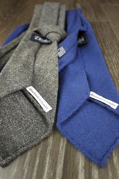 unlined cashmere ties from Drake's London.