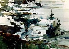 View Edge of the sea by Andrew Wyeth on artnet. Browse upcoming and past auction lots by Andrew Wyeth. Andrew Wyeth Paintings, Andrew Wyeth Art, Jamie Wyeth, Watercolor Landscape, Watercolor Paintings, Watercolors, Watercolor Ideas, Watercolor Techniques, But Is It Art