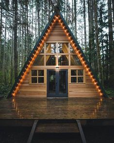 Many people think that rustic home and farmhouse is the same. Today we are going to reveal some differences between rustic home and farmhouse and will show you some rustic home decor ideas. Tiny House Cabin, Cabin Homes, Log Homes, A Frame House Plans, A Frame Cabin, Cabin Design, Tiny House Design, Cabin In The Woods, Cabins And Cottages