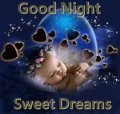 Cute Good Night Sweet Dreams Quote