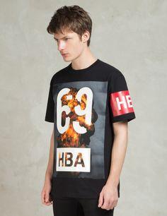 Hood By Air. Black 1969 Explosion T-Shirt