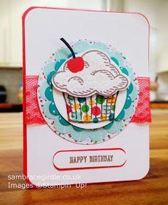 Cupcake card using Sprinkles of Life stamp set by Stampin' Up!