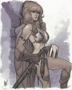 AH! Adam Hughes Red Sonja, in Cory Gauthier's Adam Hughes Comic Art Gallery Room - 1037640