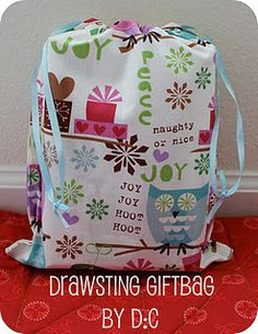 draw string gift bag - instructions