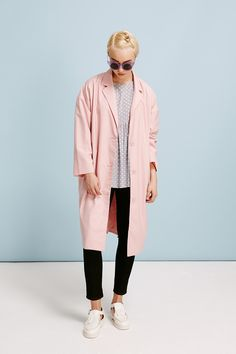 Oversized Duster Coat Pink  http://www.thewhitepepper.com/collections/coats-jackets/products/oversized-duster-coat-pink