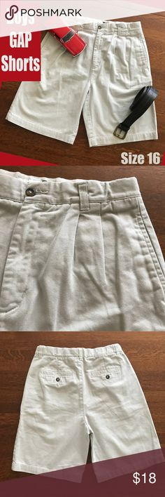 Boys GAP Light Khaki Shorts Easy Fit 16 GAP Easy Fit boys shorts 100% cotton   From a smoke-free and happy-to-bundle closet.  No trades or transactions outside of Poshmark. [T2100] Gap Bottoms Shorts