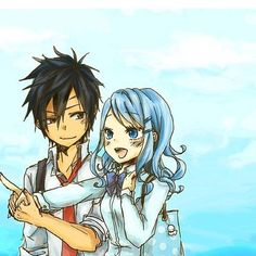 Gruvia on a date in town