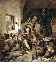 L'alchimista, Cornelis Pietersz Bega, 1663