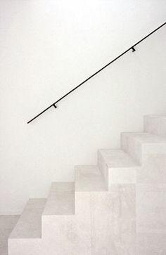 minimal steel handrail