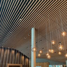 Following new developments in fire safety in buildings, our Solid Wood Grill ceilings and walls can be impregnated to meet the latest B-s1,d0 reaction to fire classification. This is the highest standard possible for wooden ceilings and walls #grillceilings #ceilingdesign #firesafety #architecturaldesign #buildingdesign #design #woodceilings #woodwalls #solidwood #architecture #architecturalproducts Wood Grill, Wooden Ceilings, Wooden Slats, Fire Safety, Ceiling Design, Shopping Mall, Solid Wood, Architecture Design, Grilling