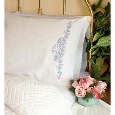 Dimensions® Wildflowers Standard Size Pillowcase Pair Stamped Embroidery Kit $12.19