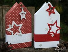Christmas house with new embossing folders