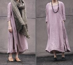 Vestido rosa para mujeres ropa de algodón mujeres por fashiondress6