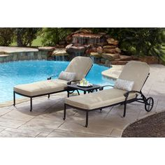 Mainstays lawson ridge cushion chaise lounger chaise for Braddock heights chaise lounge