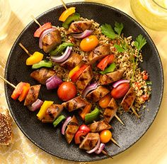 Jerk Chicken Skewers with Sweet Apple Chicken Sausage