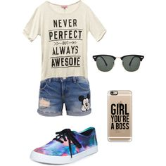 Summers Not Over Yet!!!! by merima2002 on Polyvore featuring Wet Seal, Disney, Vans, Casetify, Ray-Ban, women's clothing, women's fashion, women, female and woman