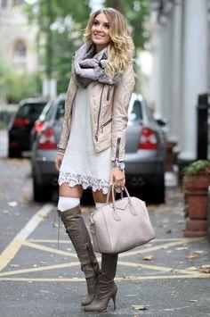 JOFAMA leather jacket, ASOS dress, H&M MEN fur snood, JOIE boots, GIVENCHY ANTIGONA bag  Http://www.mungolife.fi