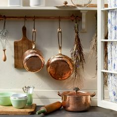 Hand-Hammered Copper Saucepan in House+Home KITCHEN+DINING Cooking+Baking at Terrain